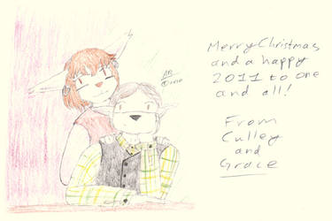Me and Grace: Xmas Card 2011 by cullsoft
