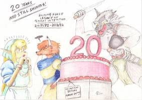 Shining Force LOGI - 20th anniversary by cullsoft