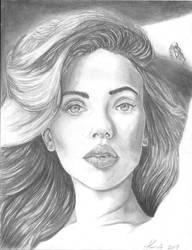 Scarlett Johansson drawing  by TaylorNicoleArnett