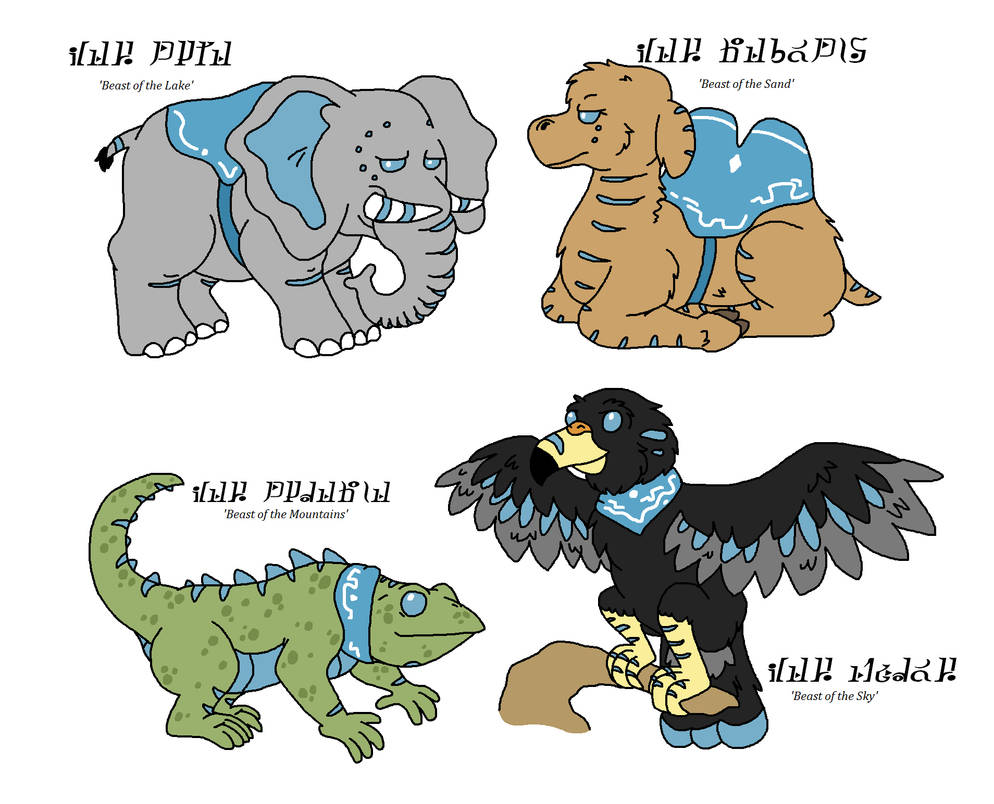 The 4 Divine Beasts