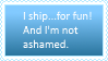 'I Ship for Fun' Stamp