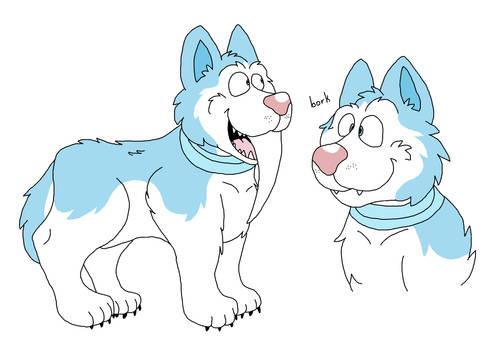 Tusky Husky Doodles