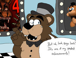 Freddy Shows One of His Greatest Achievements