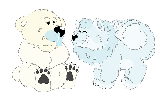 Cubchoo and Alolan Vulpix