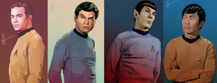 Star Trek Character Speedpaints