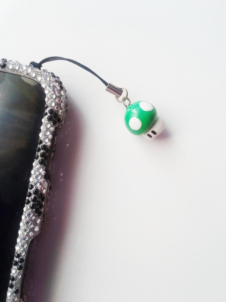 power up cell phone charm dust by kikums on deviantart