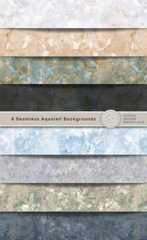 8 Aquarel Backgrounds