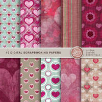 Scrapbooking Papers Valentine by Divenadesign