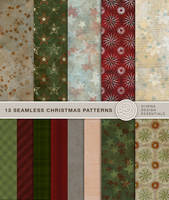 13 seamless Christmas Patterns by Divenadesign
