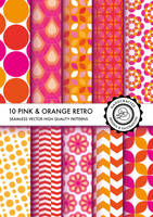 pink and orange retro patterns, seamless DIVENA by Divenadesign