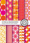 pink and orange retro patterns, seamless DIVENA