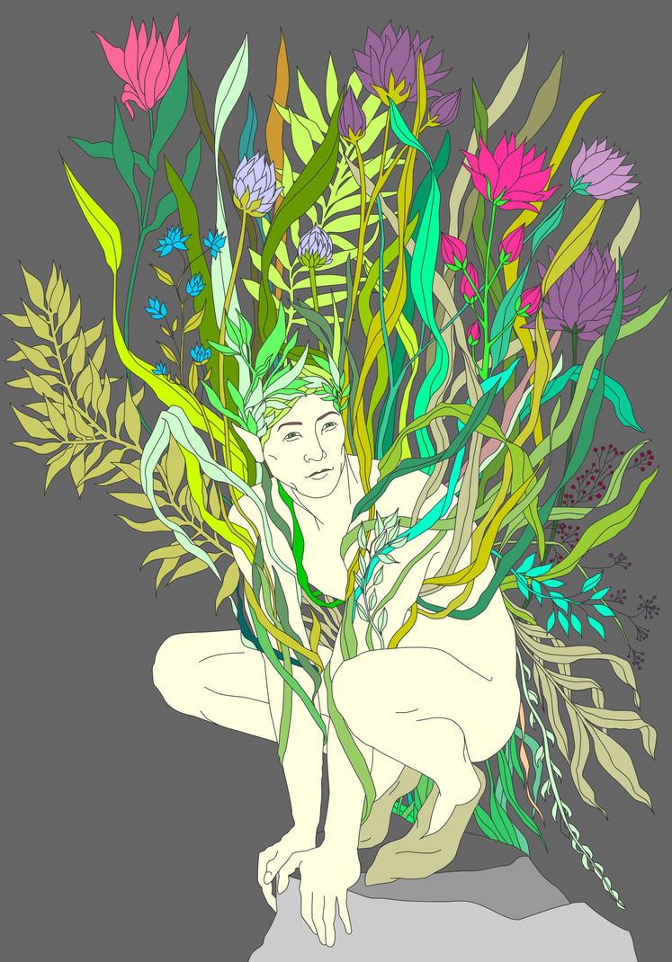 Flower man by Divenadesign