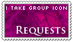 I take requests - group icon - open by Asagi-Hyuuei
