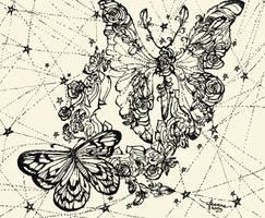 Astral Butterfly Mandala by feanne