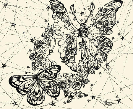 Astral Butterfly Mandala