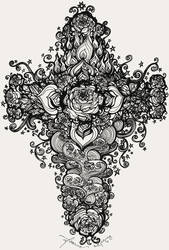 Rose Cross of Elements by feanne