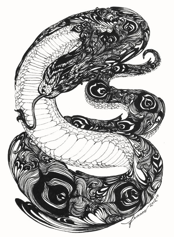 wagga snake mandala - photo#23