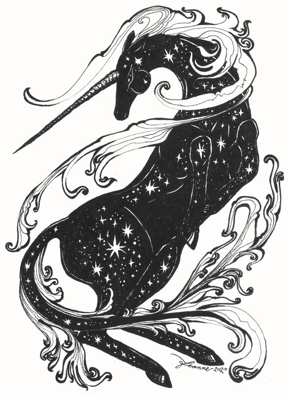 Cosmic Unicorn by feanne