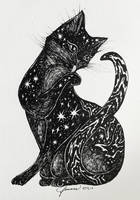 Cosmic Kitten by feanne