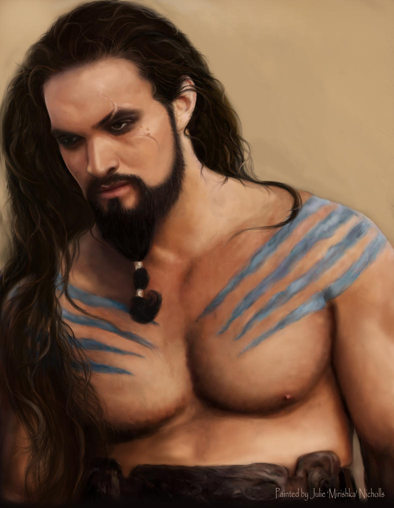Khal Drogo long hair by Mirishka by mirishka10