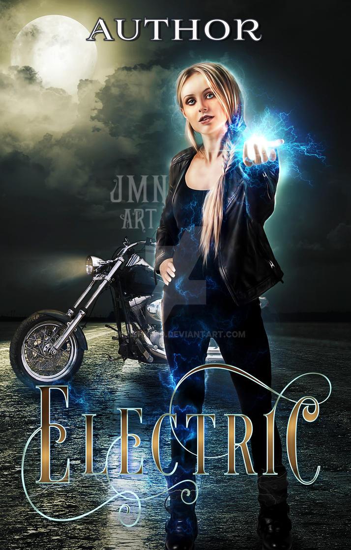 ELECTRIC - pre made book cover by mirishka10