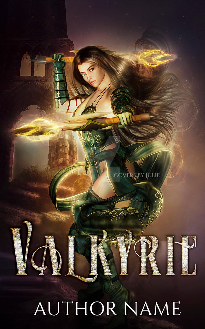 Valkyrie  pre made book cover for sale by mirishka10