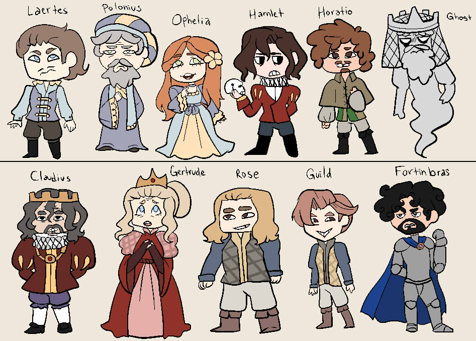 Hamlet characters by Tr0n1ka on DeviantArt