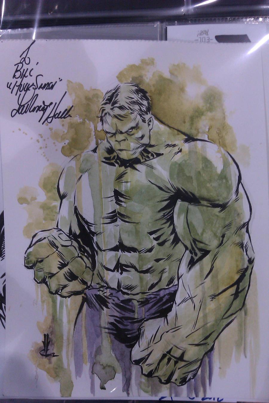 Hulk water color by JoeyLeeCabral