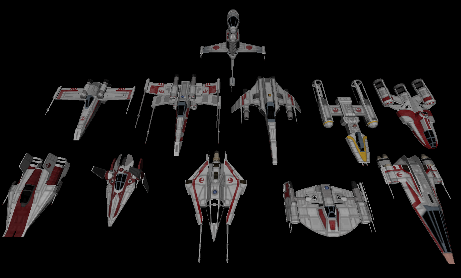 Rebel and Republic Starfighters by Majestic-MSFC