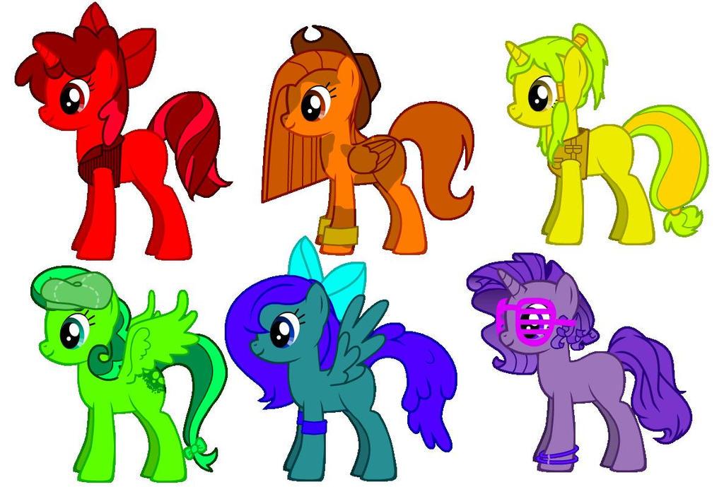 Rainbow Adoptables .:CLOSED:. by Yellowtail-Manga