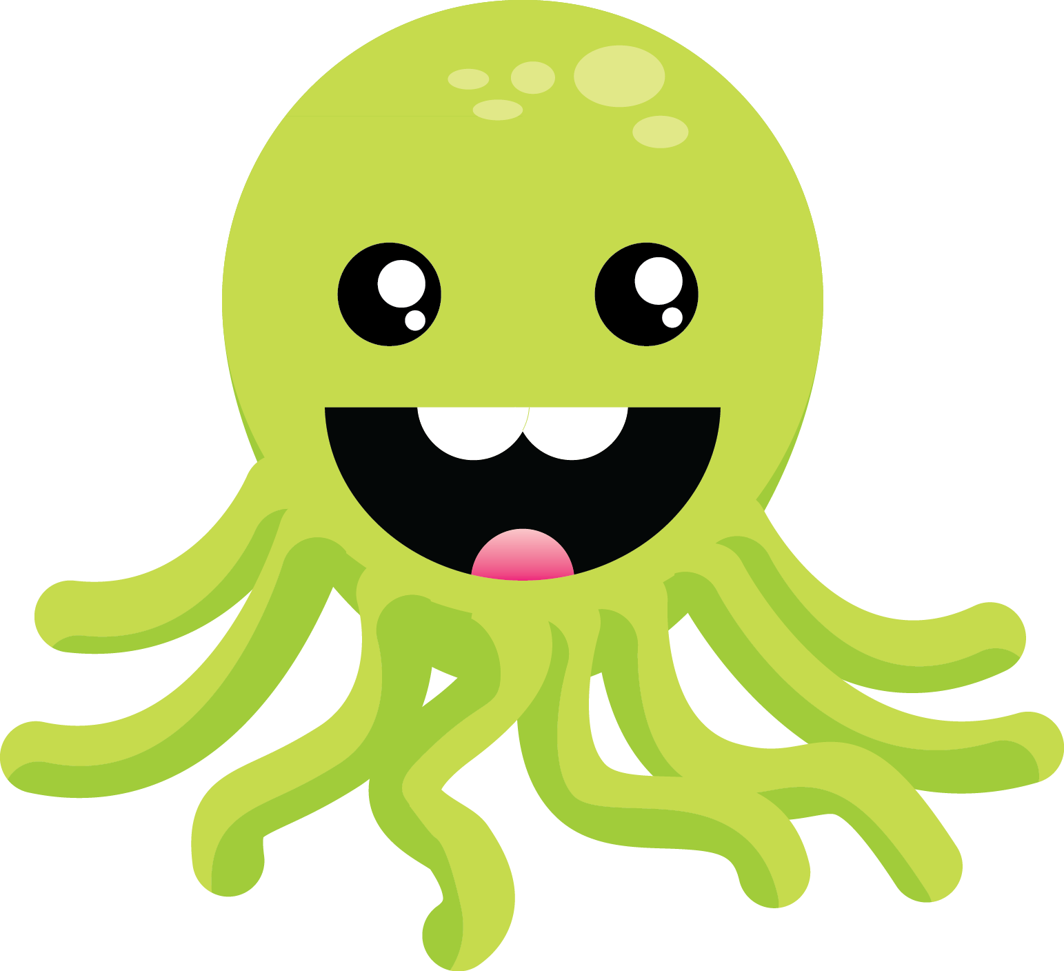 Cute Green Octopus by nameIsRaJ on DeviantArt