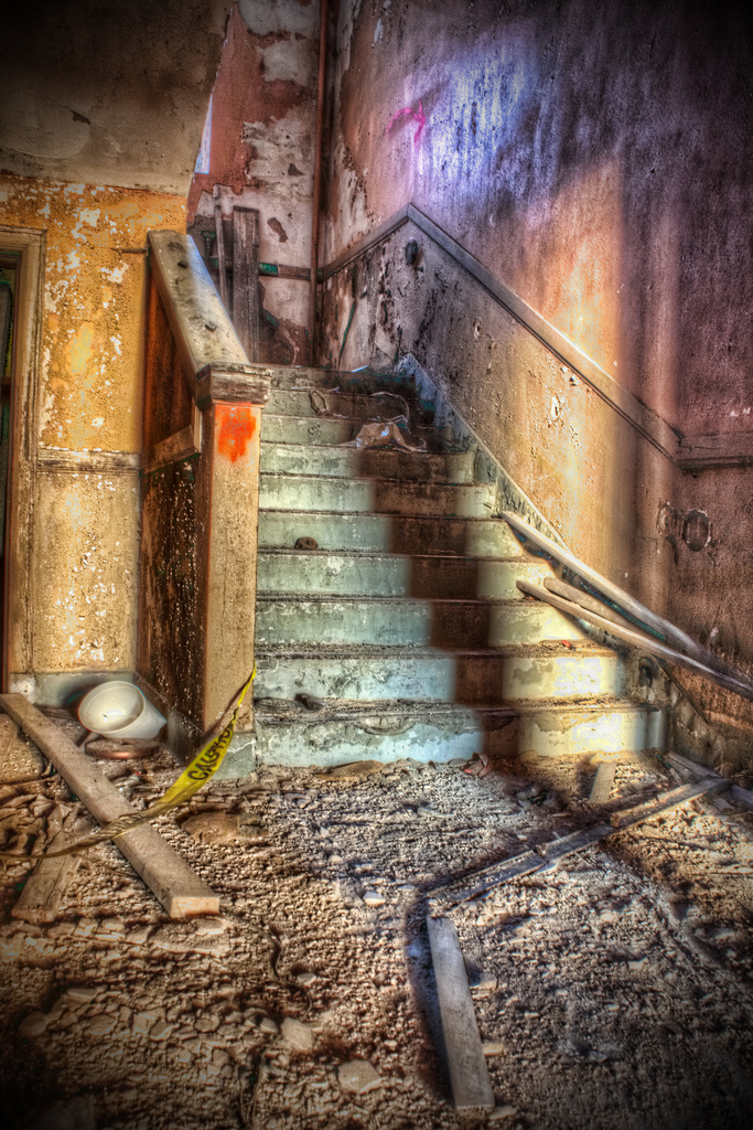 School Stairs by cassaw-creative