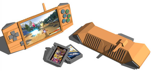 Handheld Console - Concept Art by worldshaper
