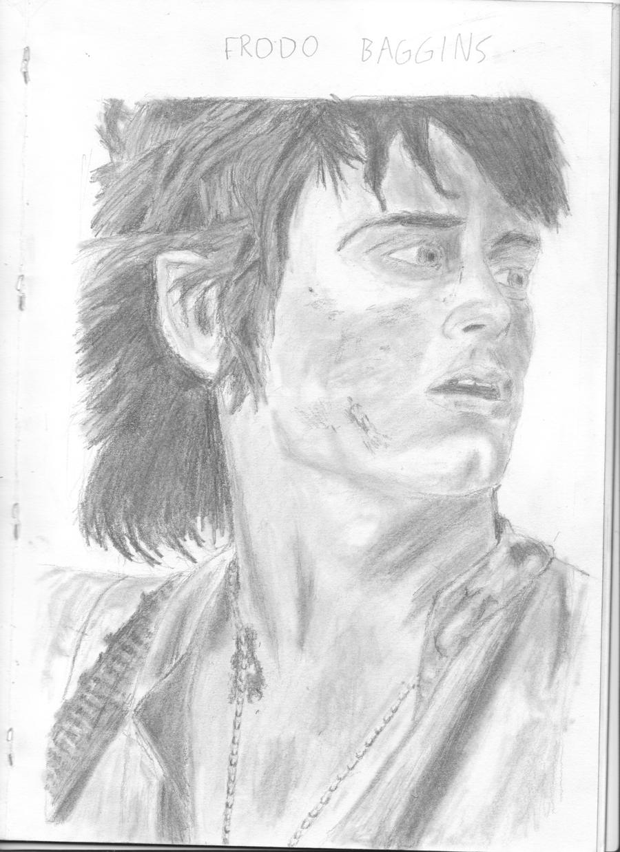 Frodo Baggins-Elijah Wood by chrisbeirne