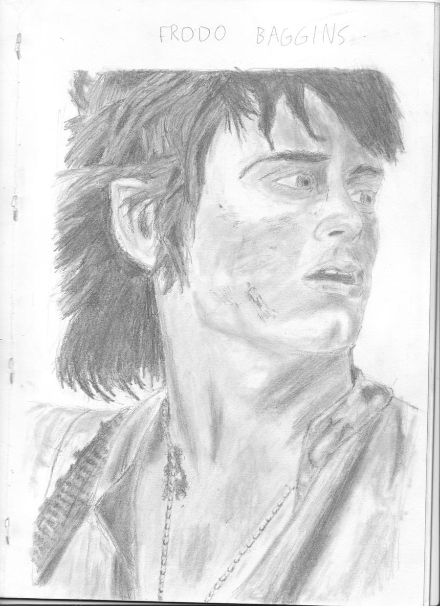 Frodo Baggins-Elijah Wood by chrisbeirne