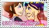 Starry Night Stamp by LaraLeeL