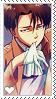 Shingeki no Kyojin Levi Stamp by LaraLeeL