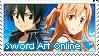 Sword Art Online Stamp by LaraLeeL