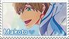 Free! Stamp - Makoto by LaraLeeL