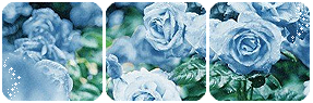 Blue Roses Divider and Base by LaraLeeL