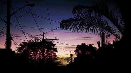 modern sunset