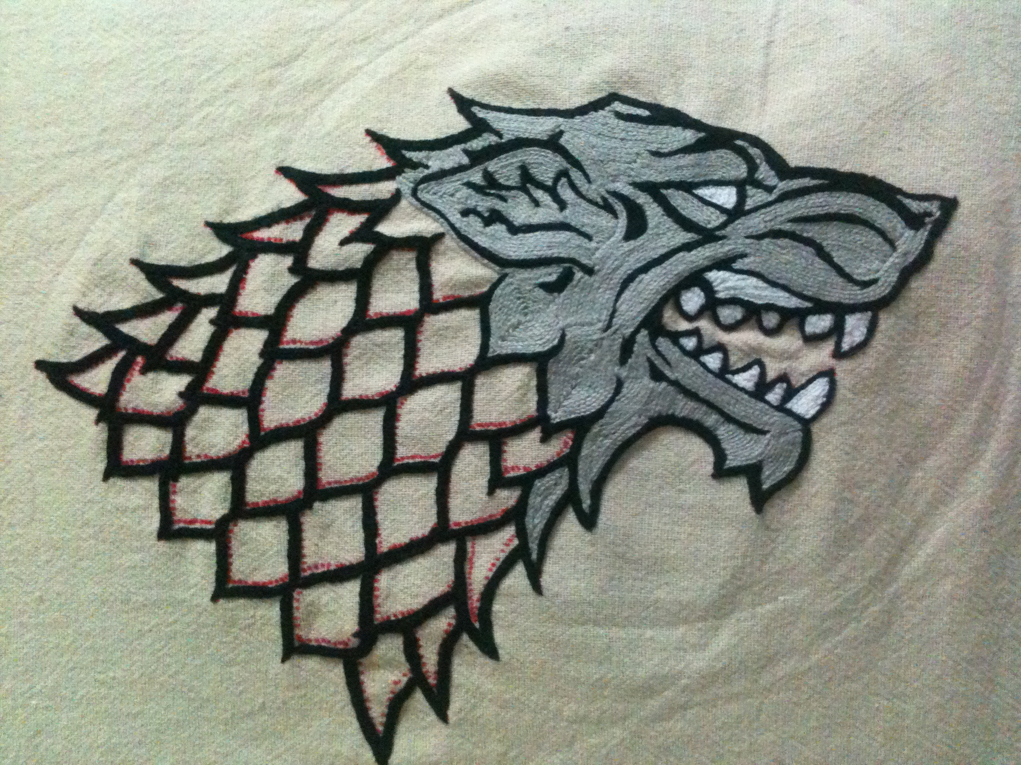 house stark banner in progress ii by kefera on deviantart