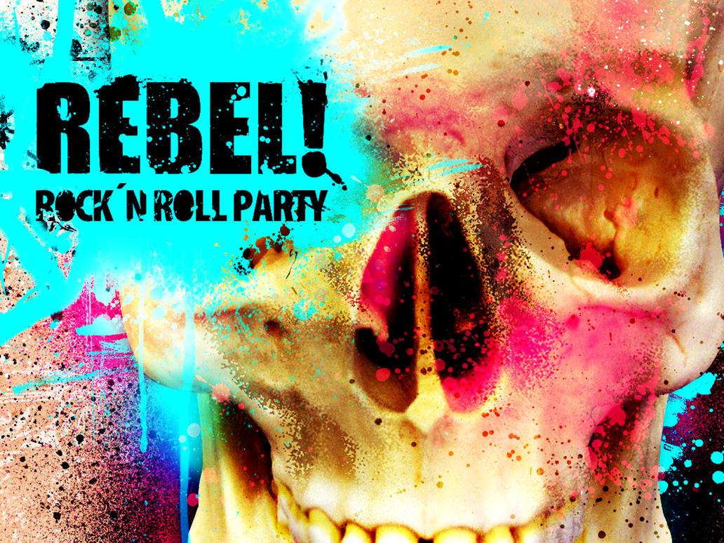 rebel skull wallpaperthedsw on deviantart