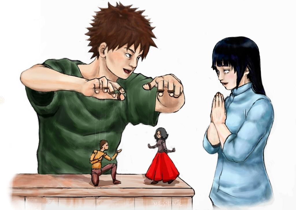 Kankuro and Hinata _ mausmouse tribute by chimeishou