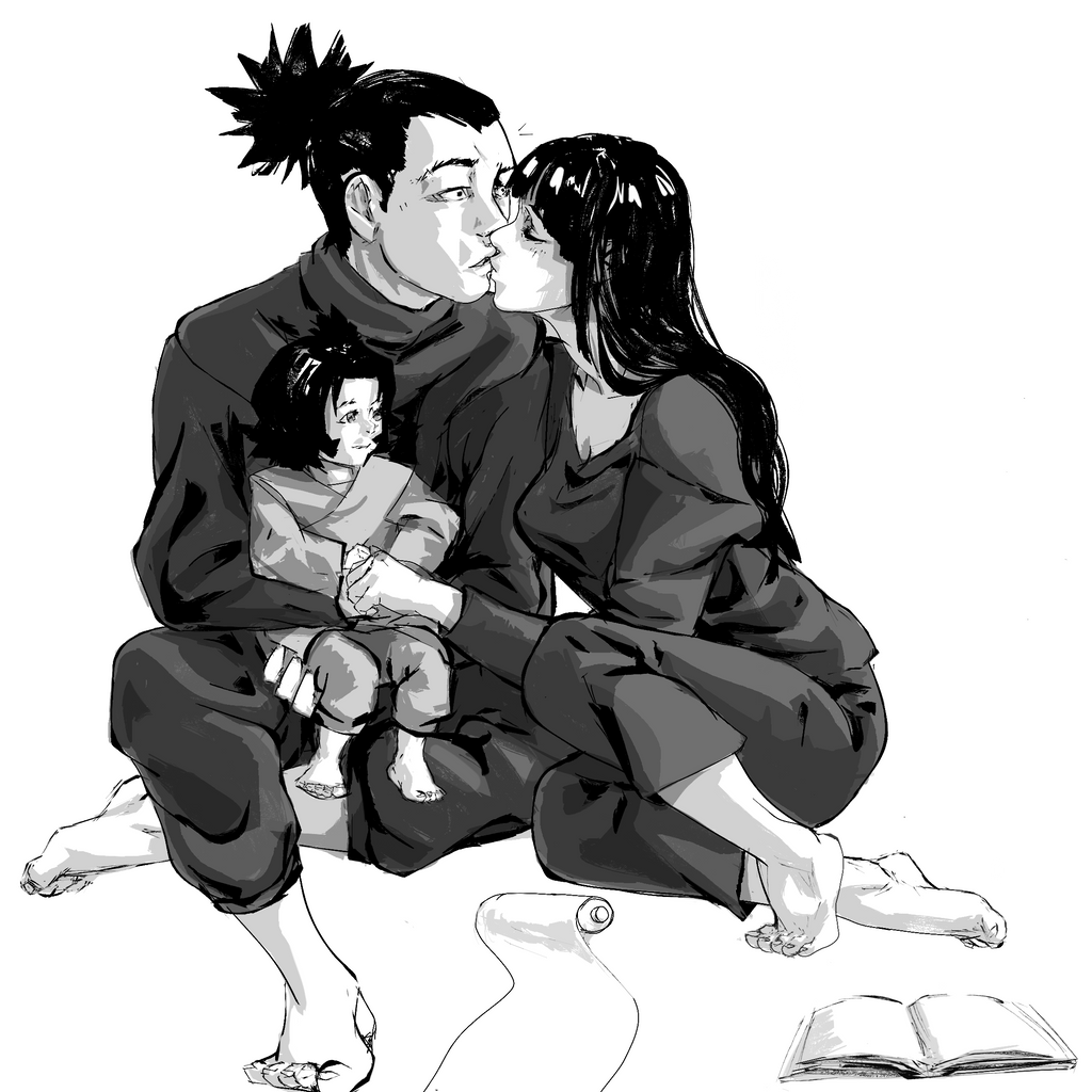 Shikamaru x Hinata - Page 3 Babysitting___shikahina___unplanned_kiss_by_chimeishou-dc6br78