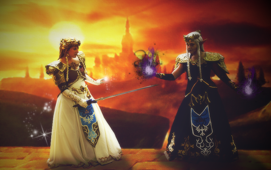 Battle of light and darkness by Kimmi-Cosplay