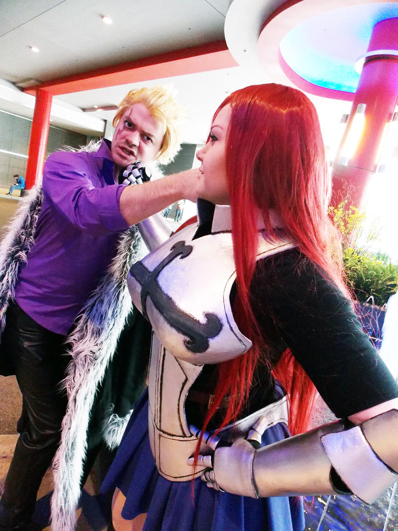 Laxus vs Erza by Kimmi-Cosplay