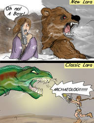 New Lara vs Classic Lara by DanMizelle