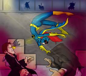 Batgirl flip by DanMizelle