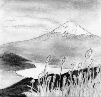 Landscape- Mt. Fuji by Kcie-Aiko on DeviantArt